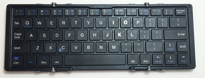 EC Technology Bluetooth キーボード Bluetooth 折りたたみ式