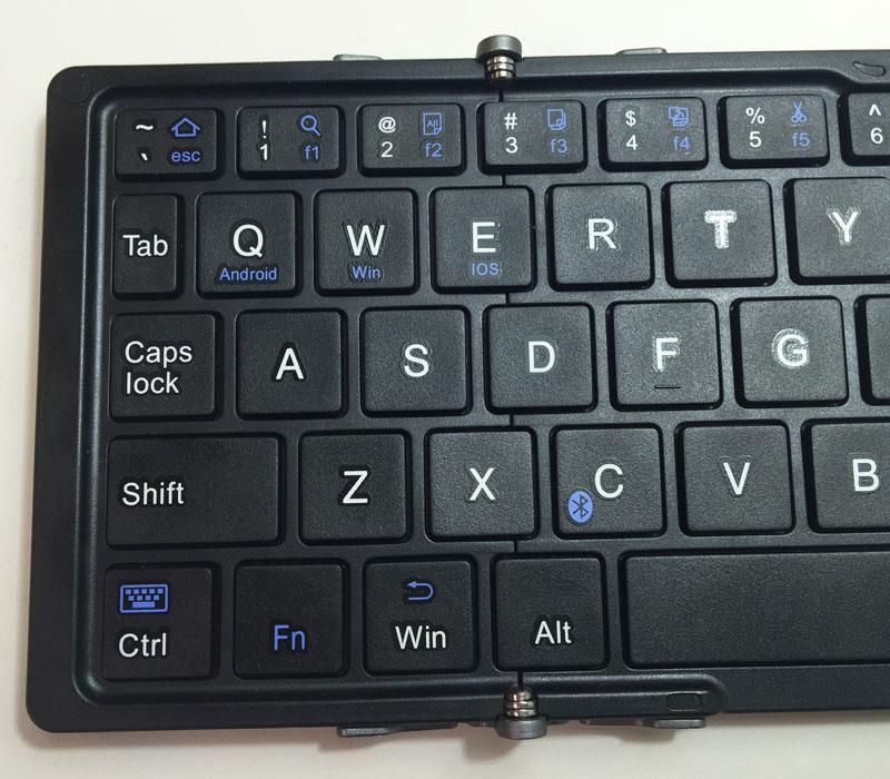 EC Technology Bluetooth キーボード Bluetooth 折りたたみ式